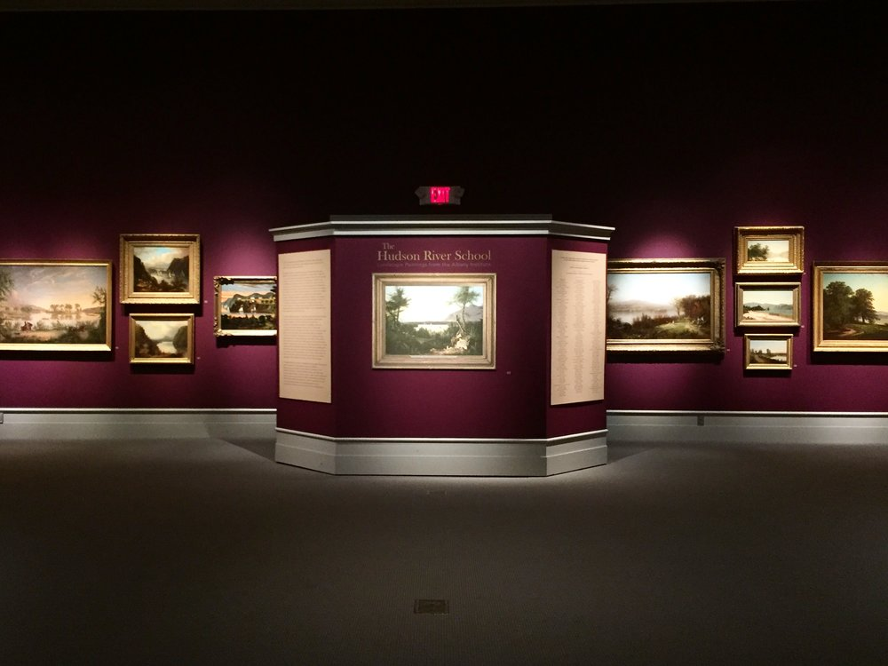 The Hudson River School exhibit at the Albany Institute of History and Art.