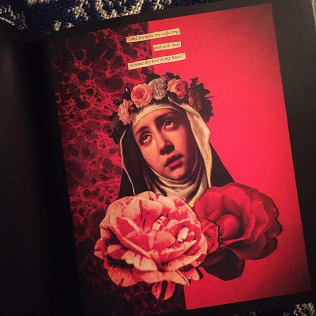 Rose of Lima by #sexdeathrebirth ✨ available as a print or in my art book 'sexdeathrebirth' ✨ joanpope.com #collage  #joanpope