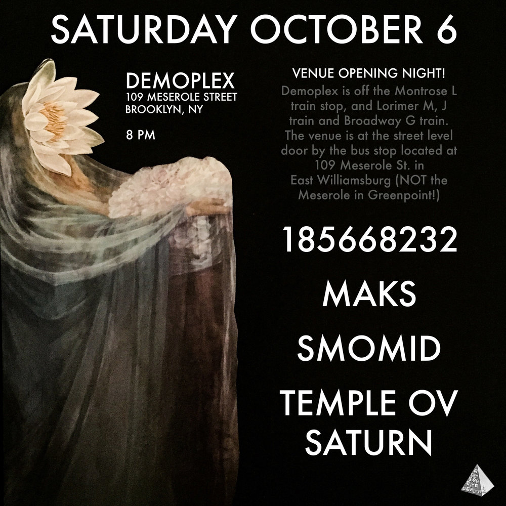 10/6 in Brooklyn - Temple ov Saturn