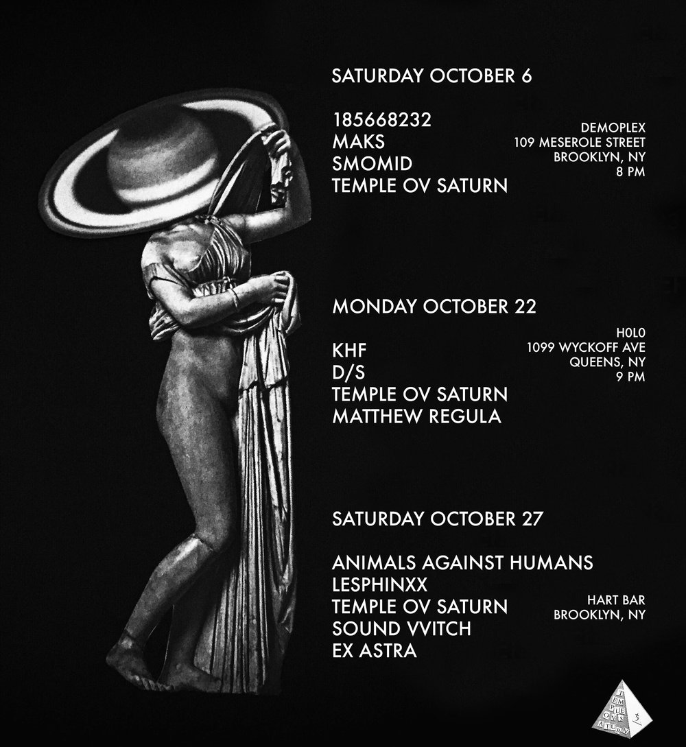 Upcoming Temple ov Saturn shows