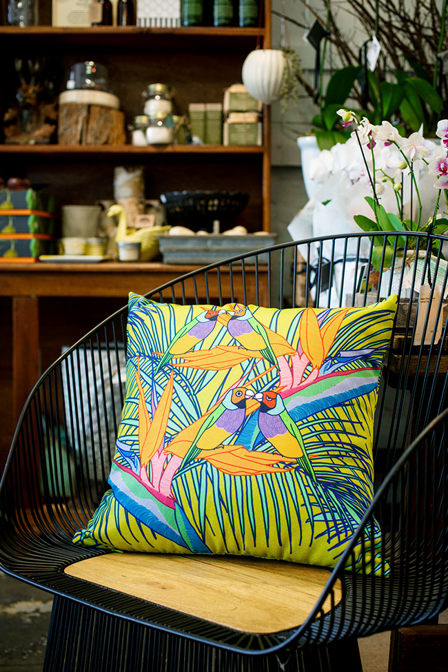 ©meganisabella_green_birds_of_paradise_cushion.png