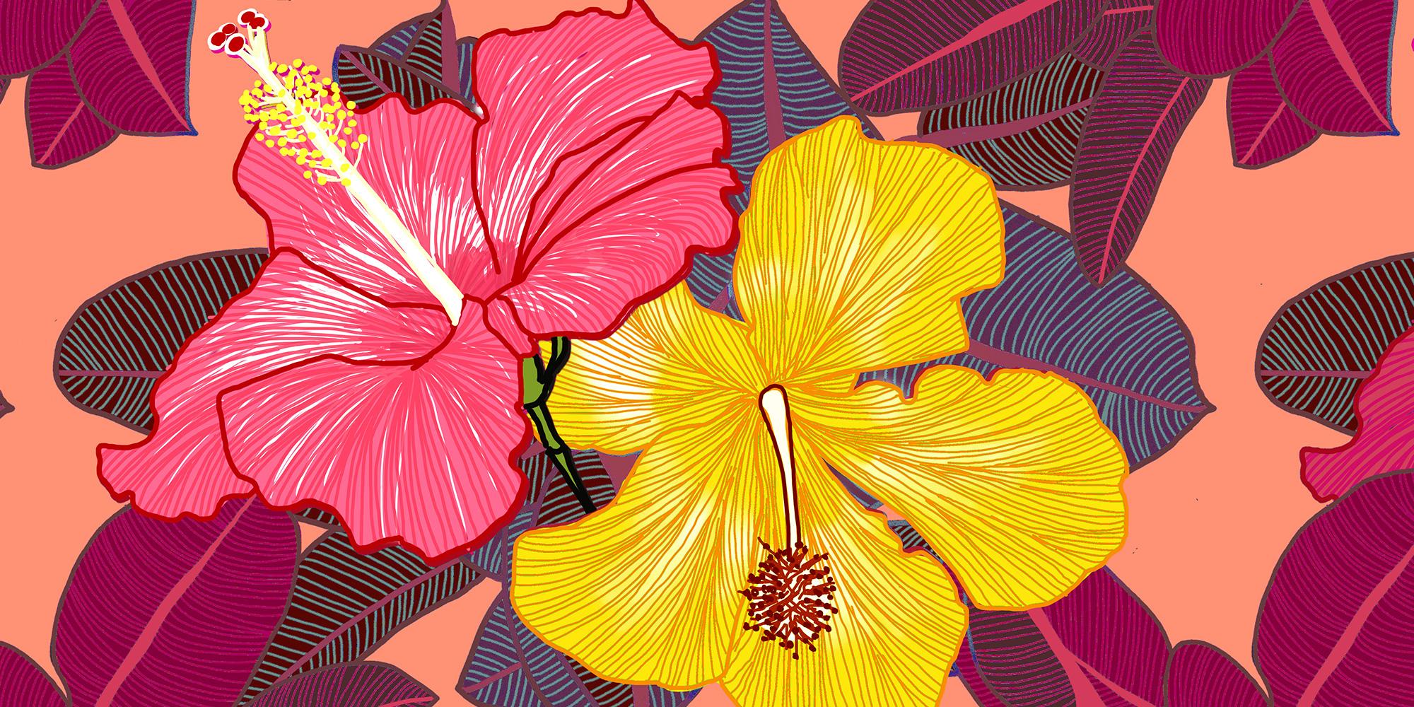 Hibiscus Floral Print Megan Isabella