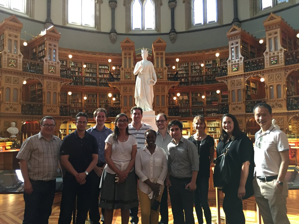 Touring Parliament with CIHR-IPPH Starting Investigators Group