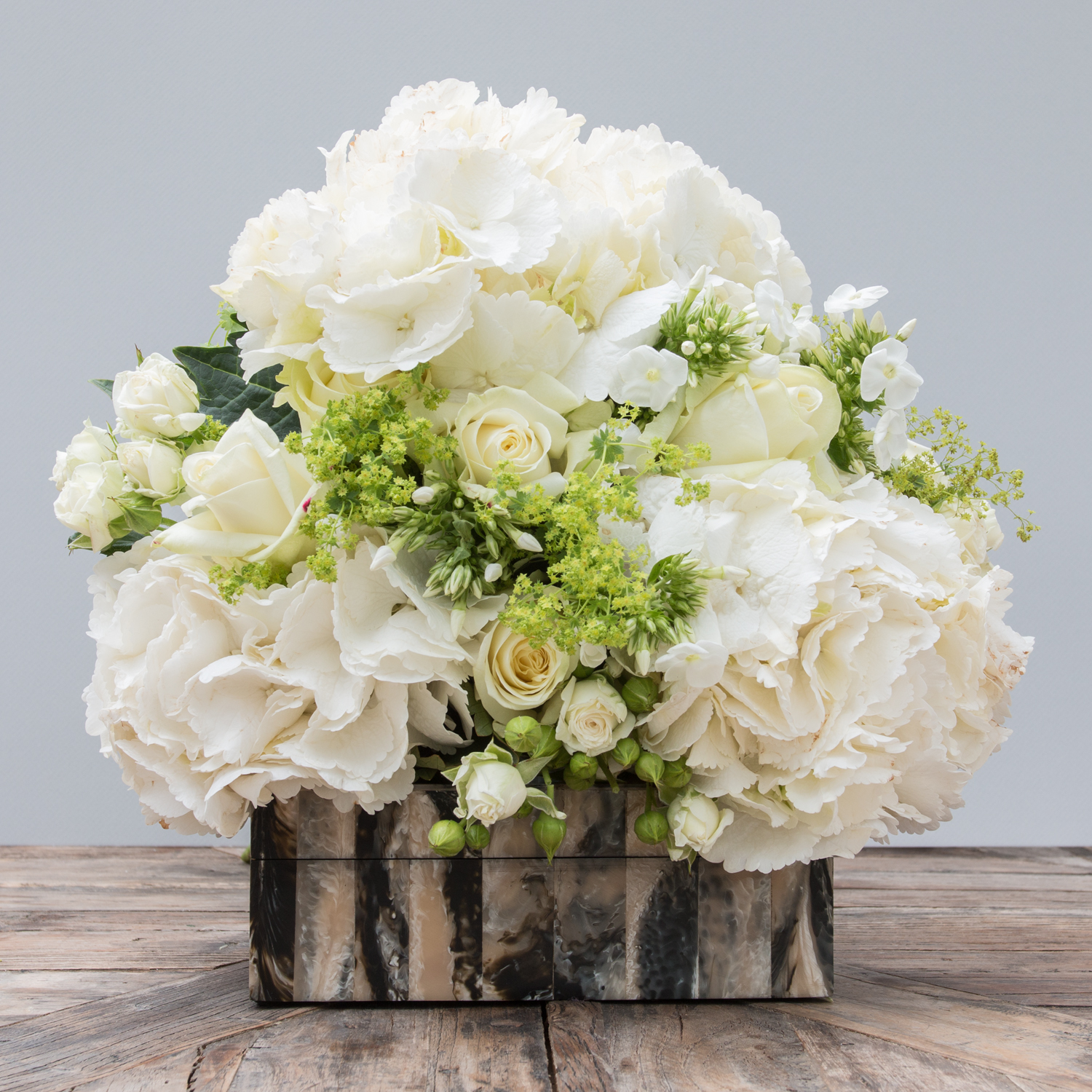 White rose hydrangea bouquet the secret garden white rose hydrangea bouquet izmirmasajfo