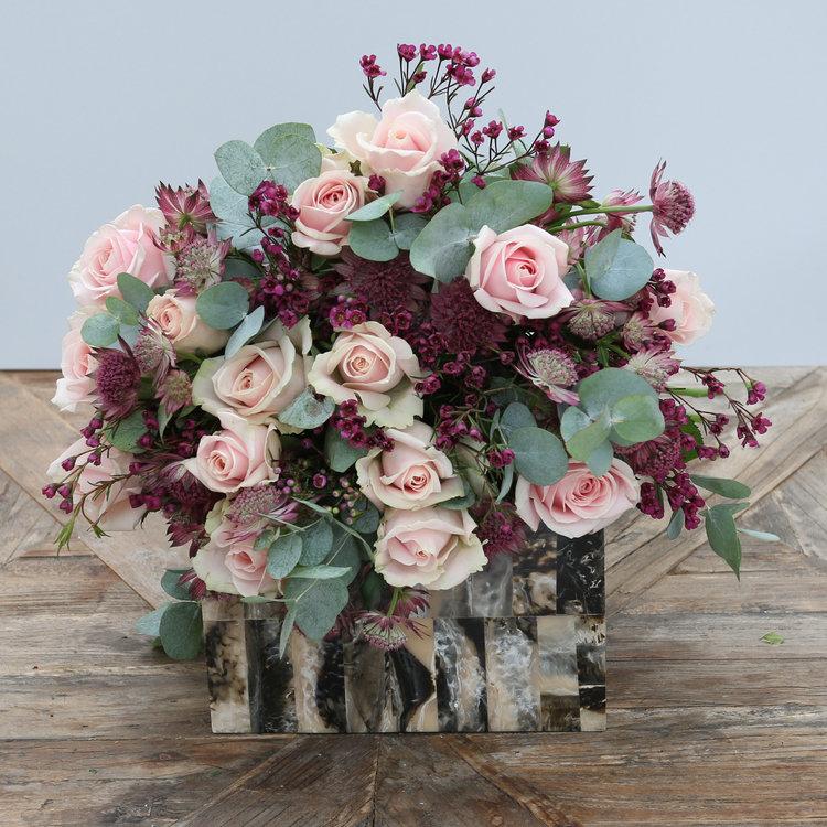Purple Waxflower & Astrantia Bouquet — The Secret Garden
