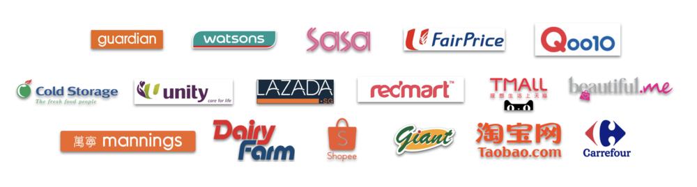 Asia Retailer Logos