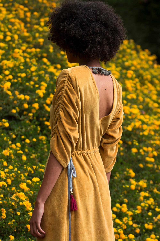 lilabare kenya fashion sustainable velvet maxi dress