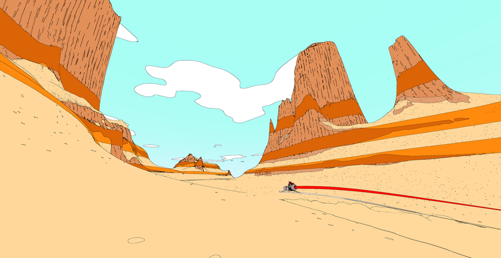 Image from the excellent Moebius-esque video game, Sable ,courtesy of  Shed Works Games . Clickthrough to learn more and support an indie game!
