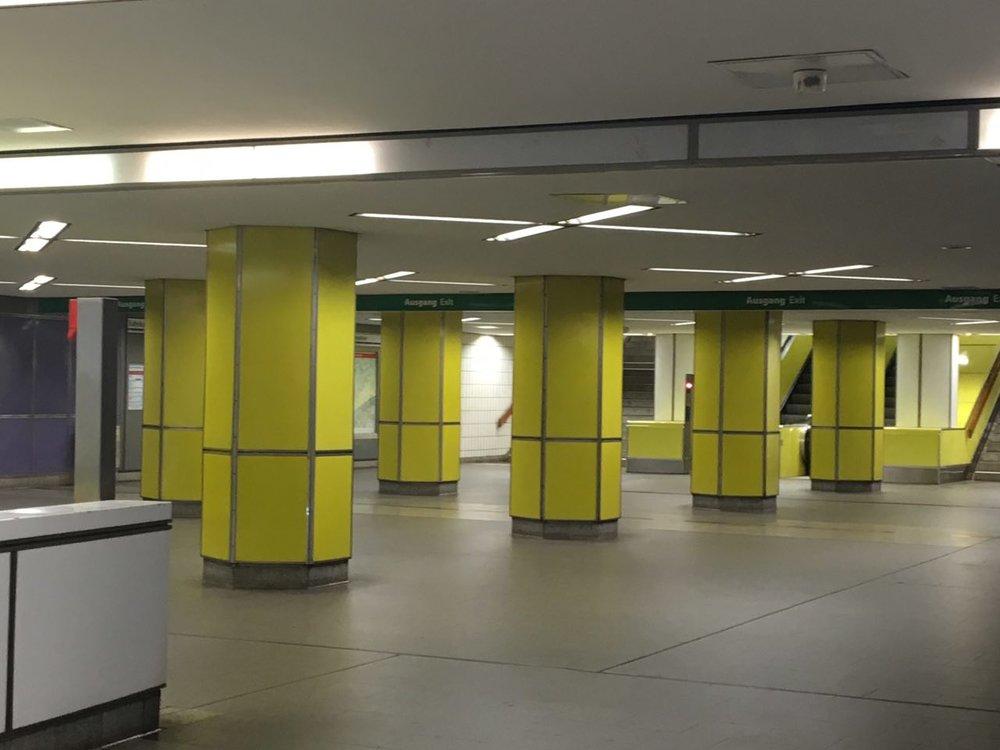 U-bahn Jungfernstieg station in Hamburg, photo my own.