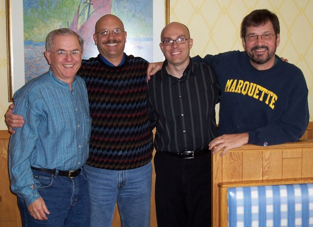 4 of the members of the Global Educators in Mission who journeyed to Quito, Ecuador in 1995.  I am second from the right.
