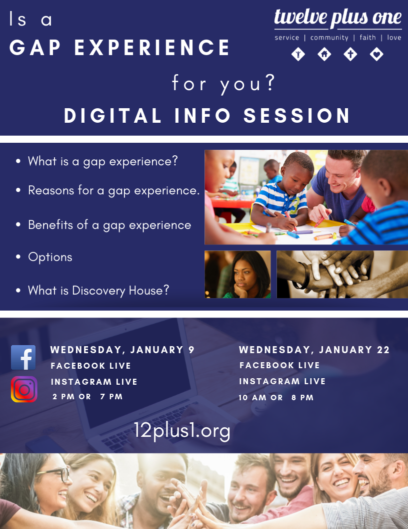 CLICK ON THE PICTURE TO LEARN ABOUT GAP YEAR INFORMATION SESSION.