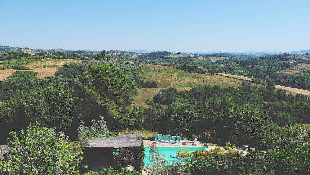 Uno dei punti panoramici de Le Fonti a San Giorgio.