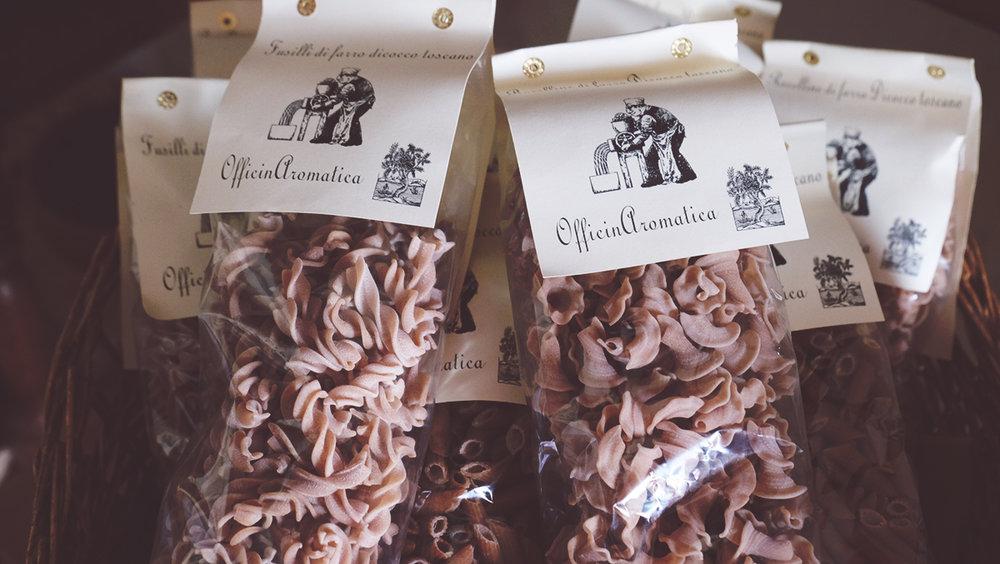 La pasta di grani antichi di OfficinAromatica, prodotta da Elena Piazzini.