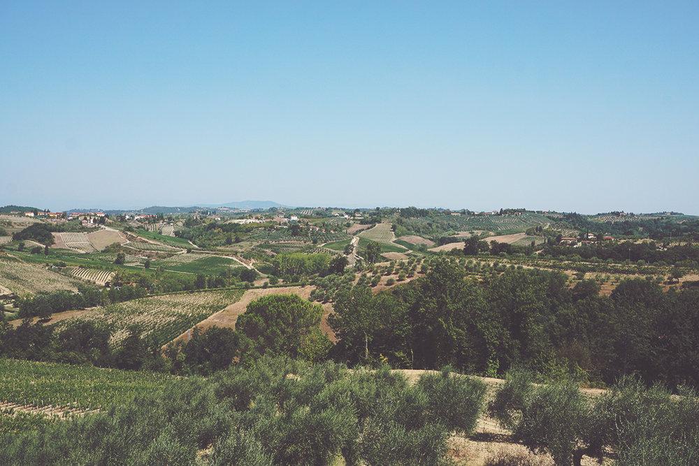 Veduta dall'antica torre di avvistamento, a Casa di Monte.