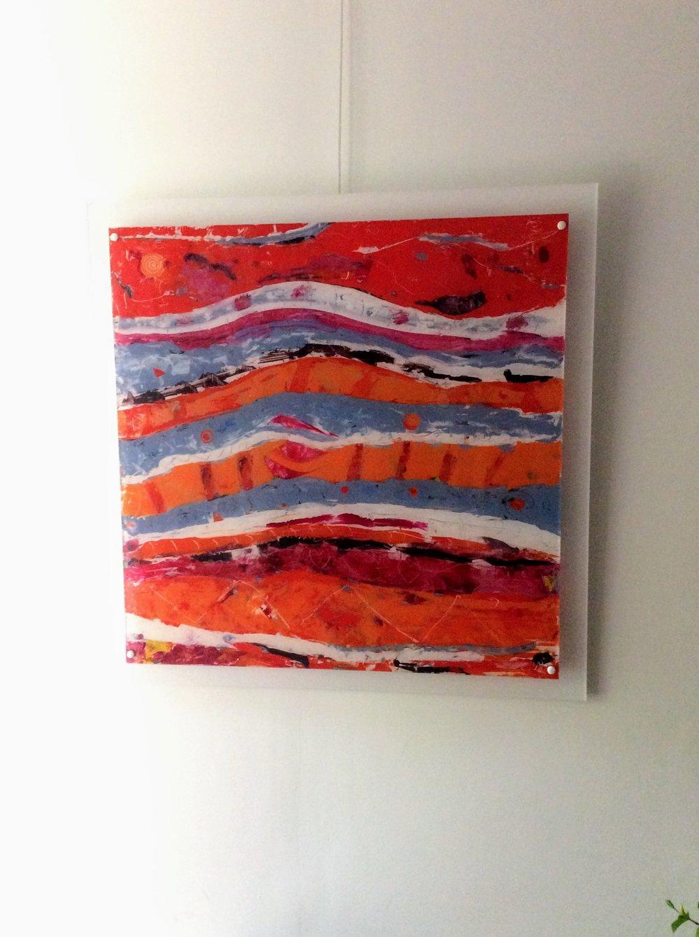 Peinture sur plexi 80x80 cm