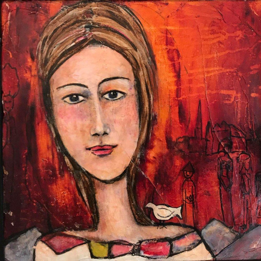 « Sérénité » 30x30 cm, peinture sur toile.    Pour voir les prix des tableaux et commander cliquez sur le lien en-dessous: