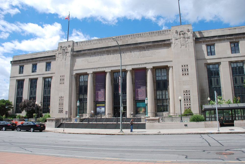 The Rochester Public Library's Rundel Memorial Building in downtown Rochester.
