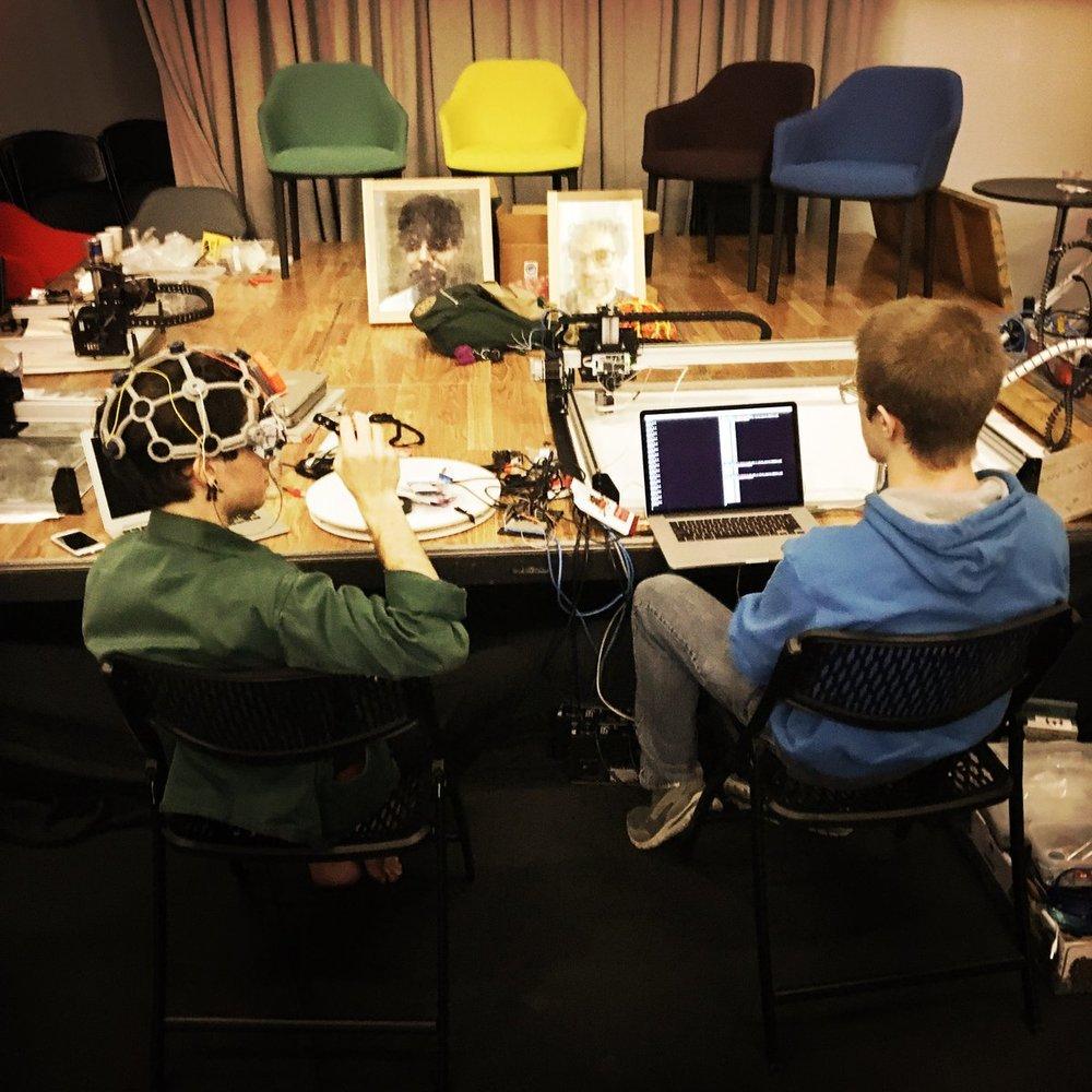Brain Interface to Painting Robot at Hacking Arts.jpg