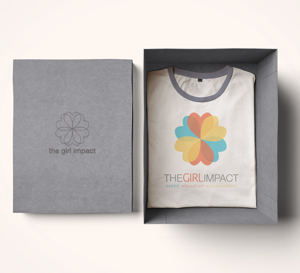 Girl Impact Logo and T-shirt design