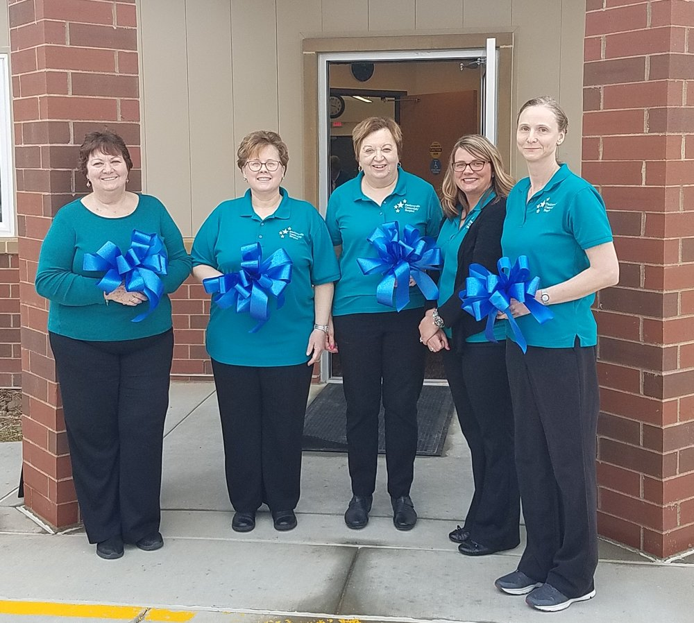 Left to right: Diana Womack-Walters LCSW; Deborah Kellerman RN BSN  (program Director); Brenda Epplin RN; Brittany Heisner Unit Clerk; Laura Herzog LCPC