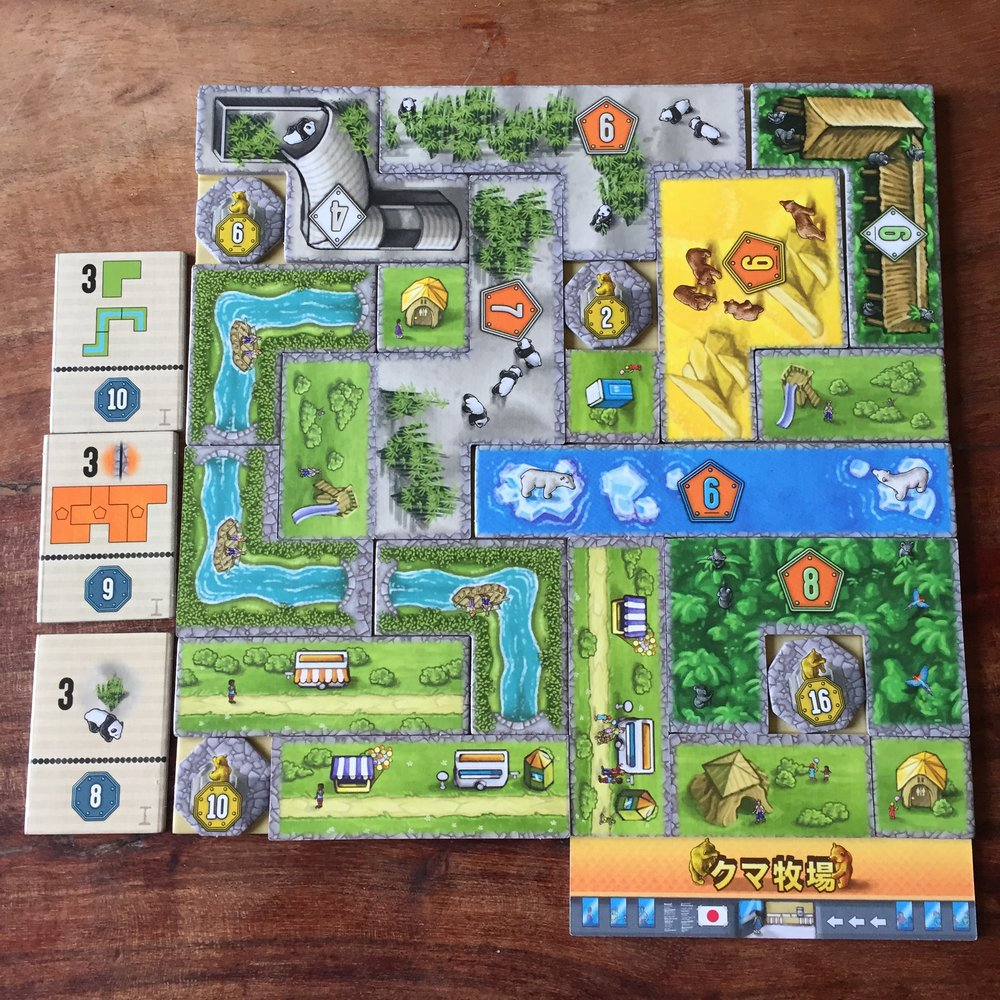 Photos of Bärenpark game board by More Games Please
