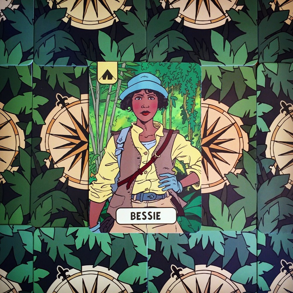 The Lost Expedition character card art - Bessie