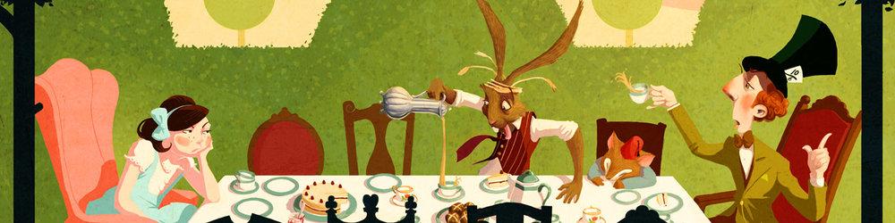 Roland MacDonald Alice in Wonderland illustration