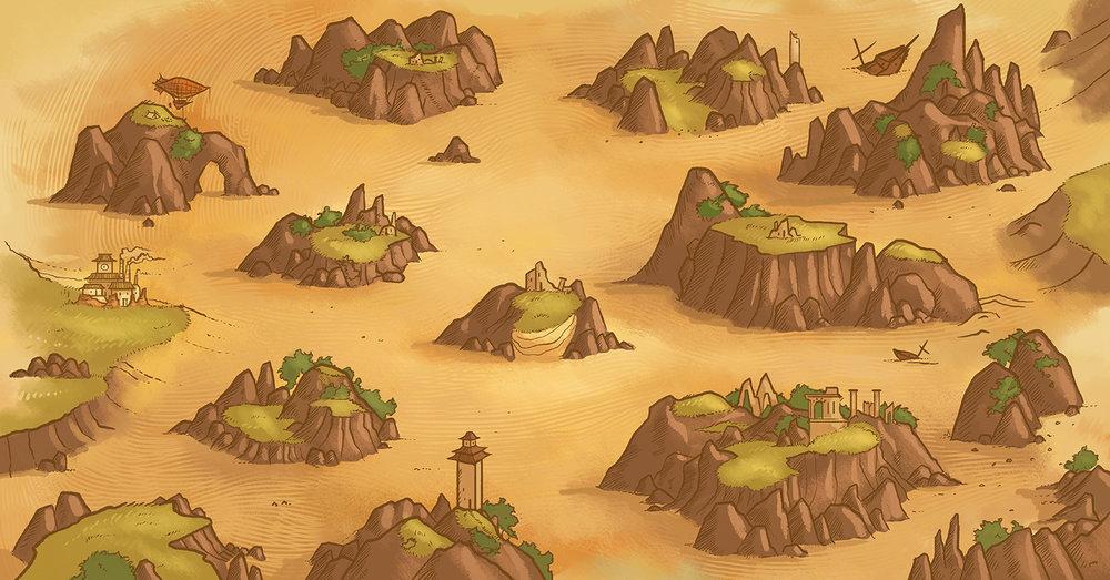 Near and Far Game Map Ryan Laukat