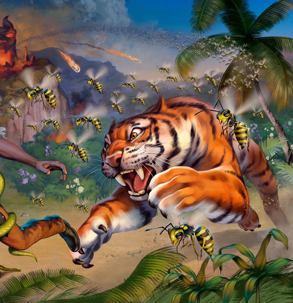 Fireball Island - Crouching Tiger, Hidden Bees Expansion box art