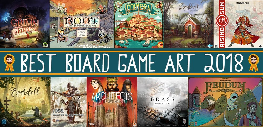Top 10 Best Board Game Art of 2018 — More Games Please