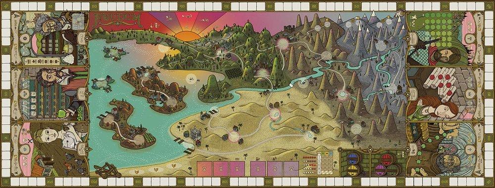 Game board final design - Feudum