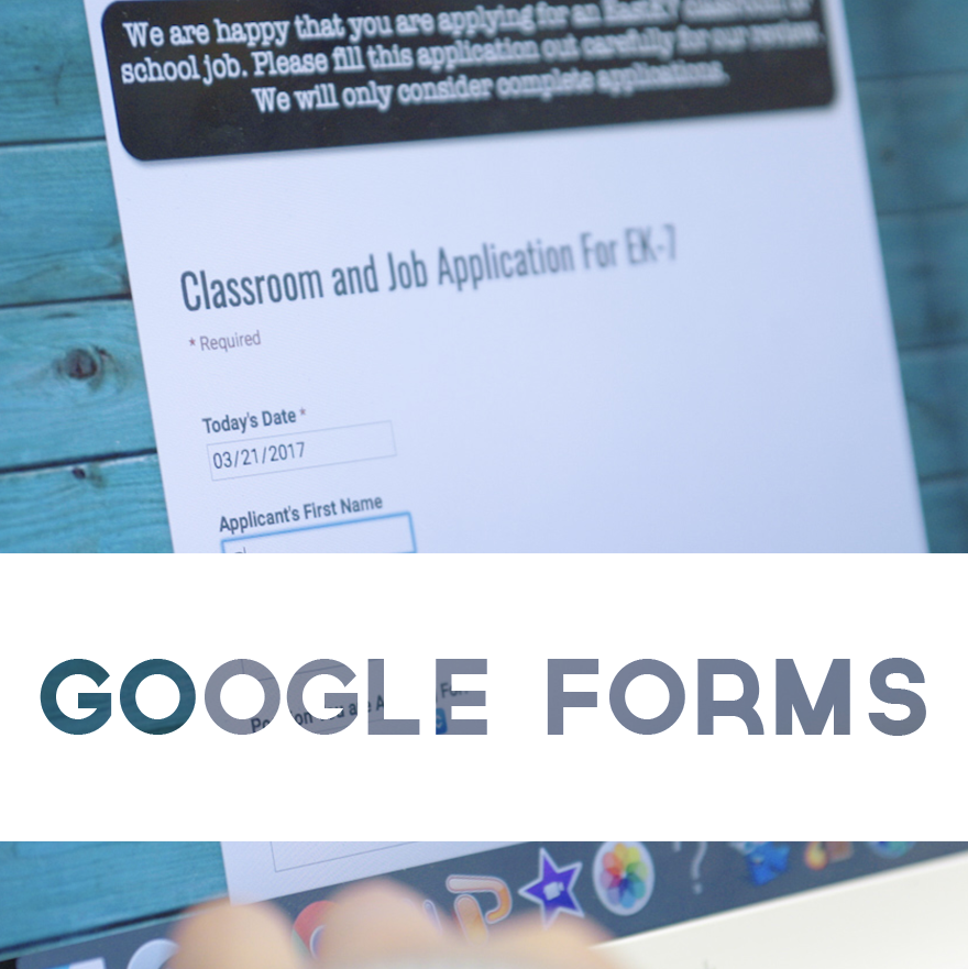 Using Google Forms To Apply For A Classroom Job Innovation Classroom