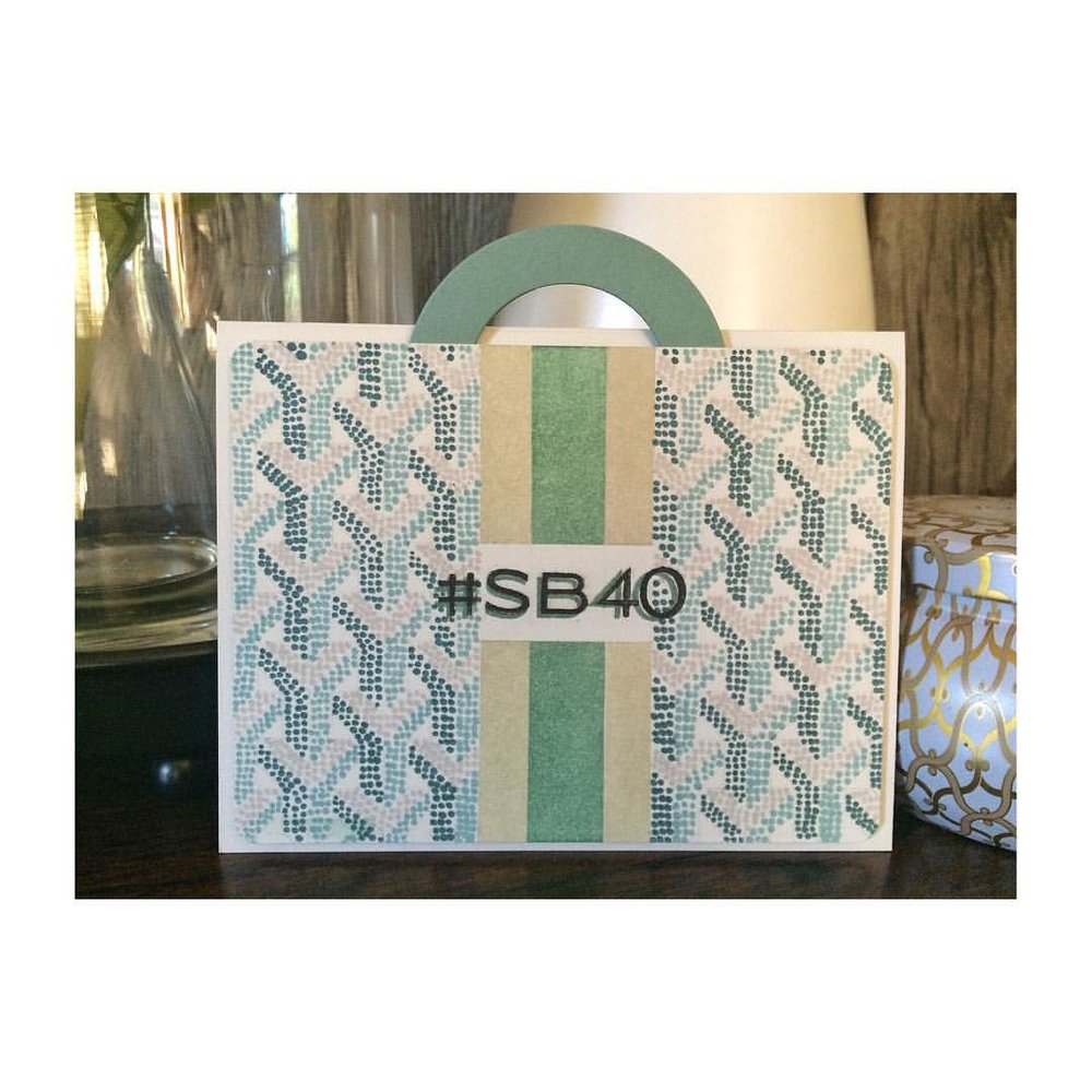 Belated card but worth it - all those dots took a long time! Happy 40th @sbhadleywilson_  a Goyard that matches yours in mini  format. #denimandinkcards #papercrafts #cards #diy #Goyard #sb40
