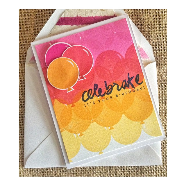 Happiest of days @sarahwm hope it was fab! #papercrafts #papertreyink #denimandinkcards #cards #diy