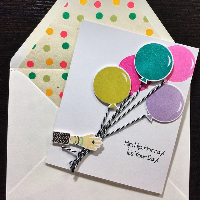 Happy birthday @lorijmc #diy #cards #papercrafts #papertreyink