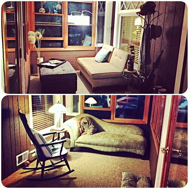Guess which side of the porch is mine? #hisandhers #decor #timetocompromise