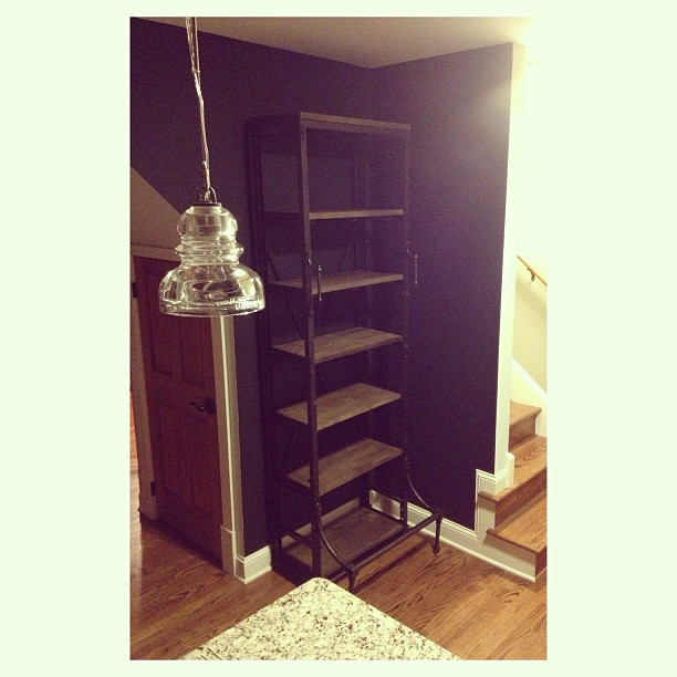 Our French library shelf for the kitchen came today from  @restorhardware - now all I need is my island from @WilliamsSonoma and its done!