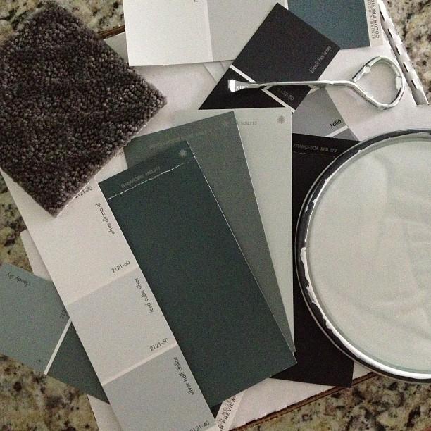 Muted color palette #benjaminmoore #diy