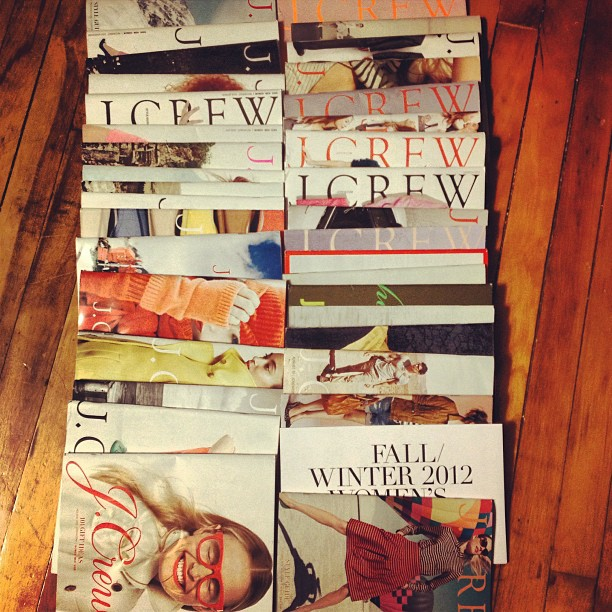 Some things I can't throw out- like my 3 years worth of JCrew style guides - do you hang on to catalogs that inspire your style? #jcrewaddict #inspiration #lookbook
