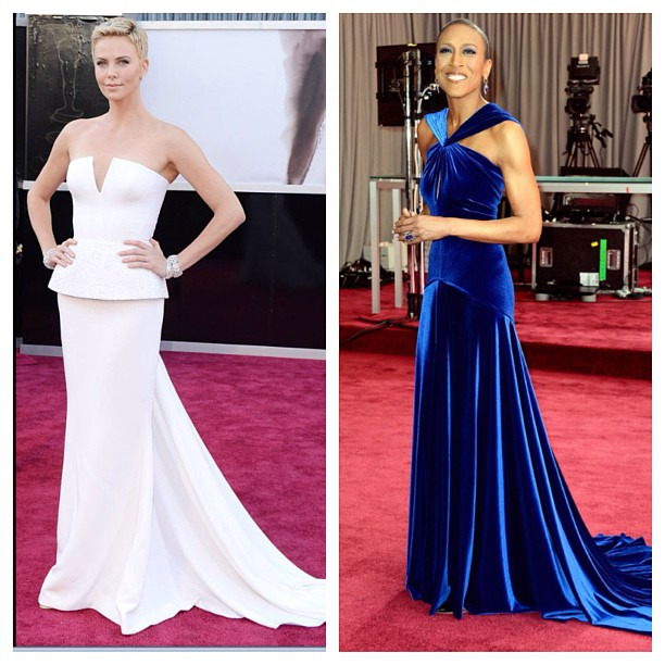 Loving Charlize and Robin #oscars