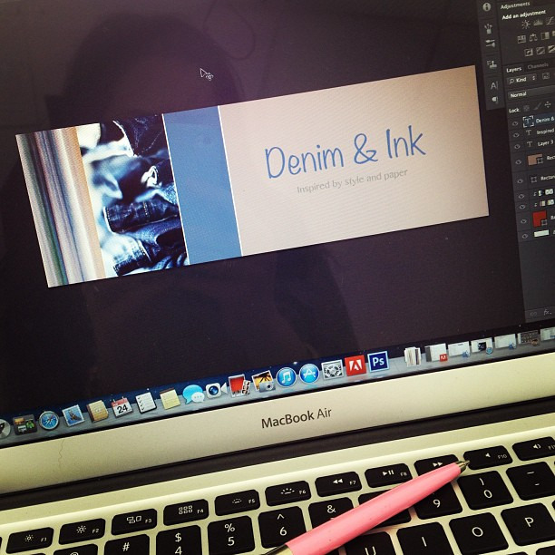 Working on a new blog header #blogshopmpls