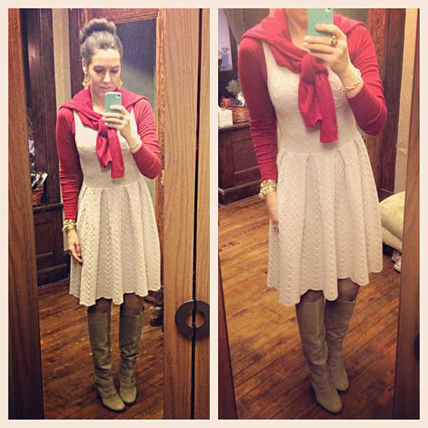 {dress} Big team meeting #redandkhaki #wiw #ootd #targeteer #targetstyle #personalstyle