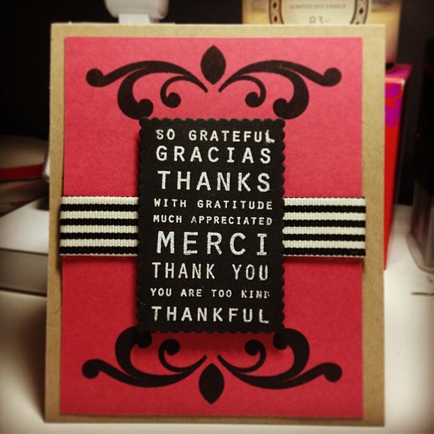 {DIY} making thank you cards in bulk tonight #cards #crafty #diy #paperfun