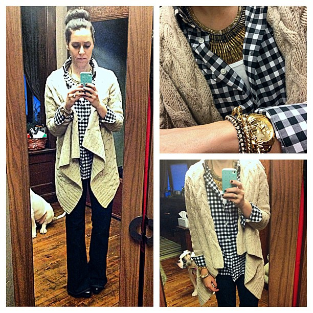 {dress} cozy cables #ootd #wiw #personalstyle #paigedenim #anthropologie #sockbun #stelladotstyle #sweaterweather