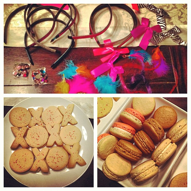No Gossip Girl series finale is complete without make your own headbands, French macarons, and XOXO cookies #gg #gossipgirl #headbandsforever #xoxo #chuckandblair #whoisgossipgirl