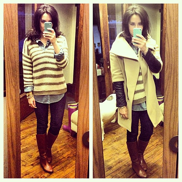 Dressed to shop #ootd #wiw #personalstyle #casualfriday #vince #jcrew #zara