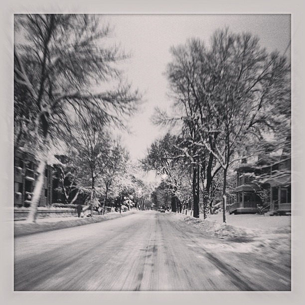 The drive into work today #lategram #mpls #snowday #minneapolis #notraffic