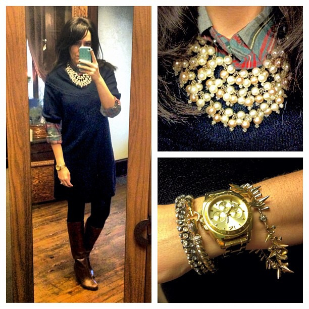 All set for my @stelladot open house holiday party #bcbg #ootd #wiw #jcrew #stelladot #holidayparty