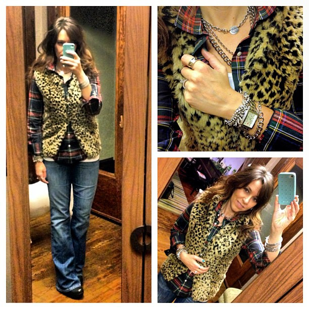 Plaid + leopard #ootd #wiw #jcrew #gap #stelladot #casualfriday #layers