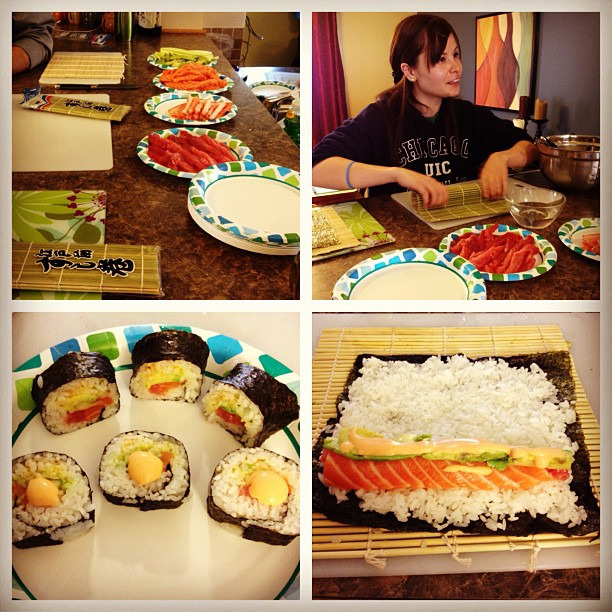 Making sushi #teambuilding #nomnom #diy